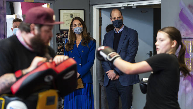 The Duke and Duchess visited one of Police Scotland's violence reduction units