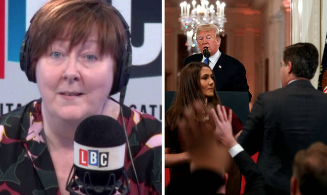 Shelagh Fogarty meets the caller who wants a CNN journalist locked up