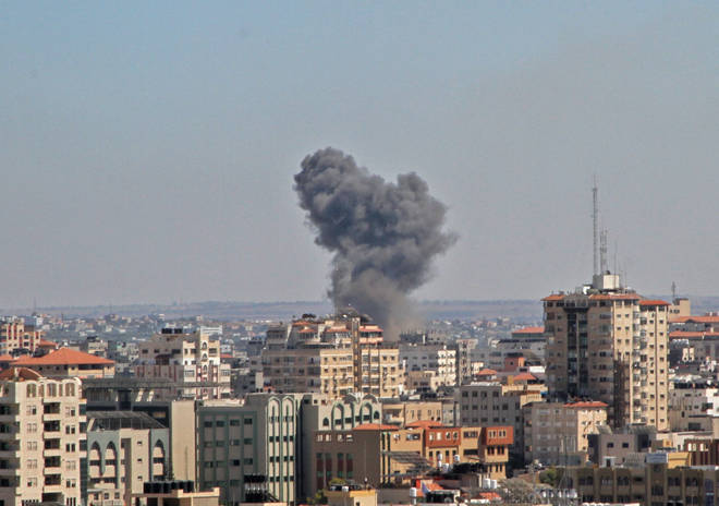 Hundreds of airstrikes have left thousands of Palestinians displaced