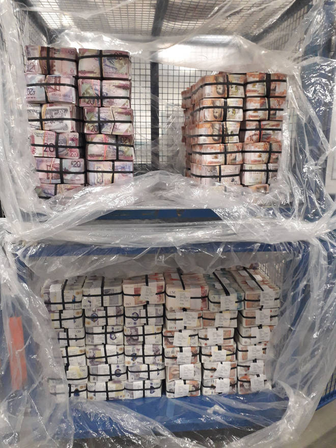 A vast haul of money was seized