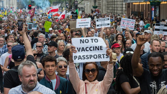 Hundreds of protesters marched through central London on Saturday