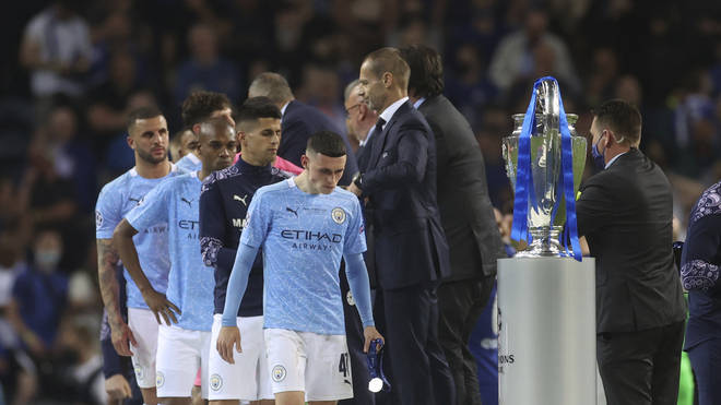 Manchester City players had to settle for second best after losing to Chelsea