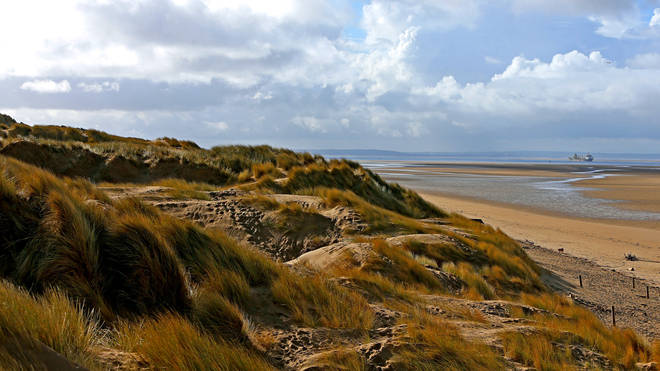 Three men were rushed to hospital after a stabbing at Formby Beach (File picture)