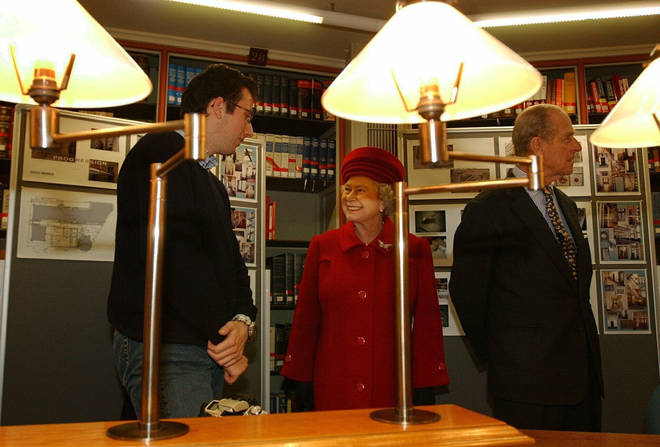 The picture showed Prince Philip during a visit to King's College London.