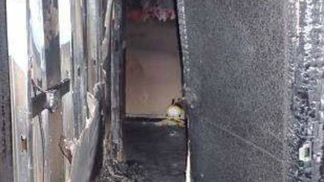 The fire ripped through three floors of the 19-storey block