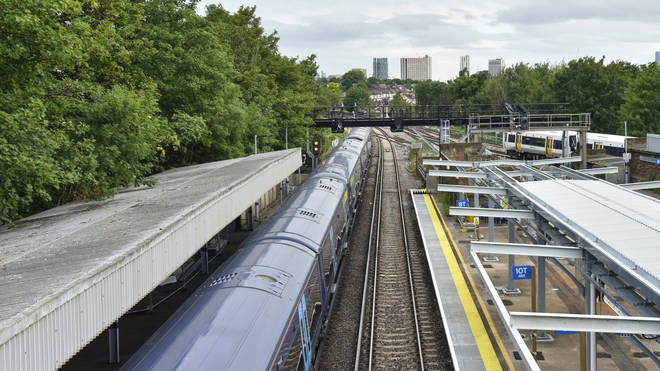 Staff were attacked with a knife at a train station in south east London on Monday
