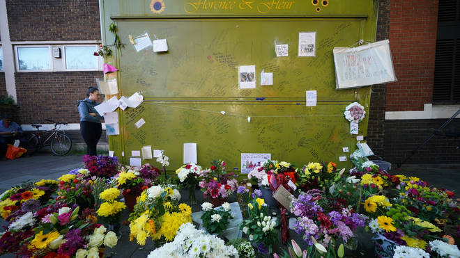 Tributes at a vigil for Mr Eastlake at his stall at Essex Road Station