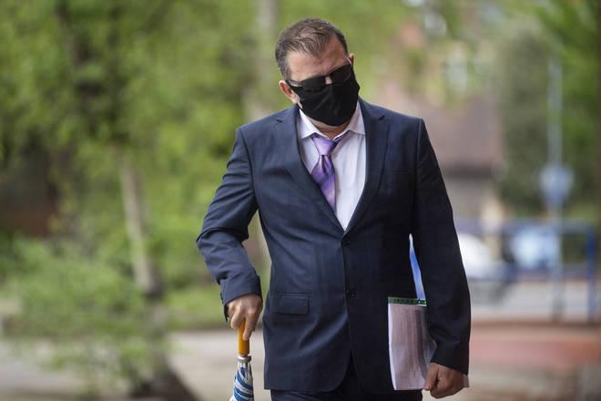 Unal Gokbulut outside court ahead of an appearance in May