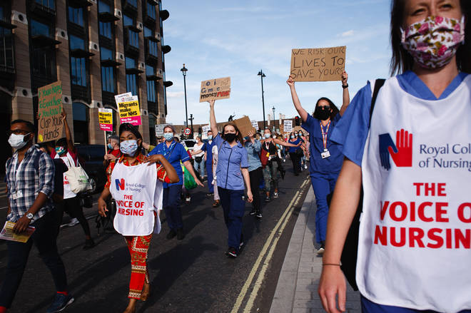 The Royal College of Nurses has previous protested the Government's handling of the pandemic