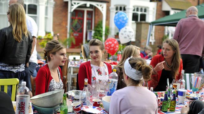Street parties were held to celebrate the Queen's Diamond Jubilee in 2012