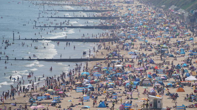 Thousands made their way to the beach over the sunny bank holiday.