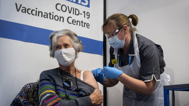 75 percent of adults have received their first coronavirus vaccine