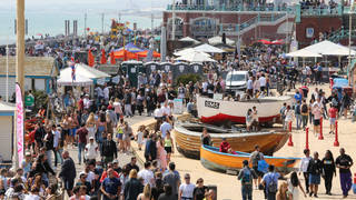 Crowds came out to enjoy the sun, with Wednesday marking the hottest day of the year.