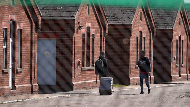 Napier Barracks in Folkestone, Kent (file photo)