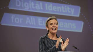Margrethe Vestager unveiled the plans for a digital ID wallet