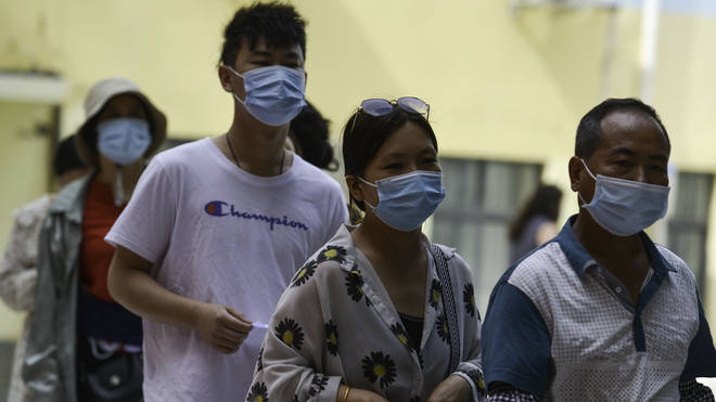 China has given out 704 million doses so far, with half having been distributed in May alone.