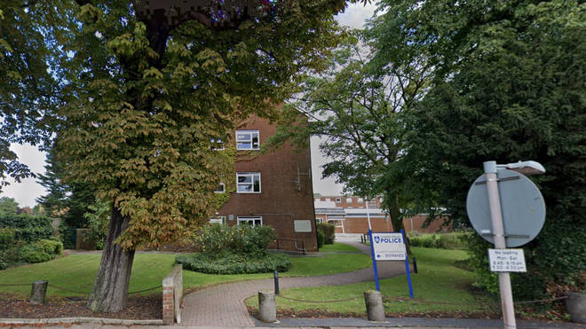 A man was arrested after attempting to hide in Aylesbury Police Station