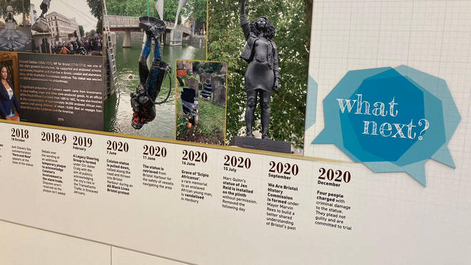 The display includes a timeline of events