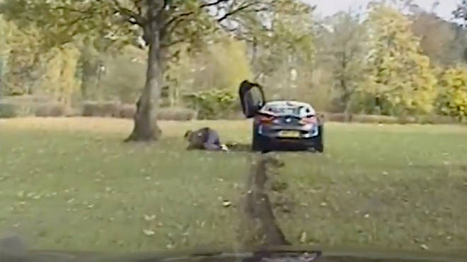 At one point one of the drug dealers leaps from the car before abandoning a rucksack containing half a million pounds worth of cocaine