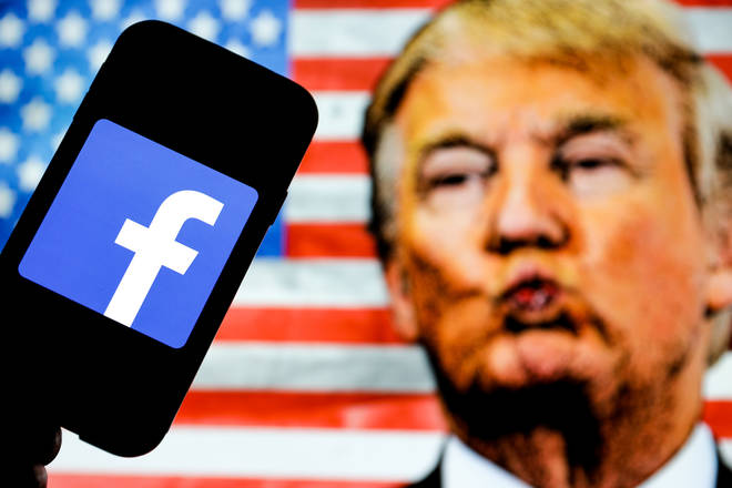 Donald Trump has been suspended from Facebook for two years