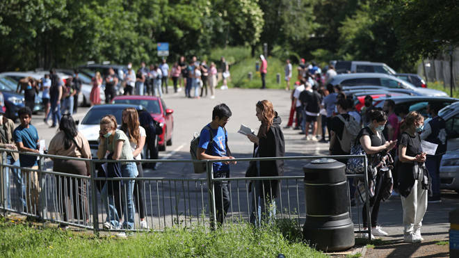 People were queueing for hours to get a jab