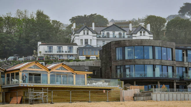 The Carbis Bay hotel ahead of the G7 summit in the Cornish village
