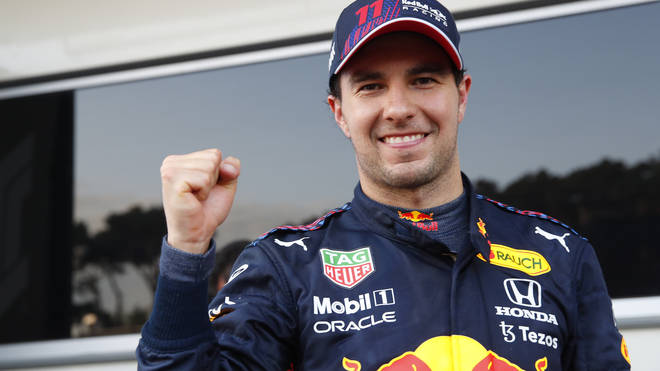 Verstappen's team mate Sergio Perez assumed the lead ahead of Hamilton and Sebastian Vettel, and clinched victory to win the race