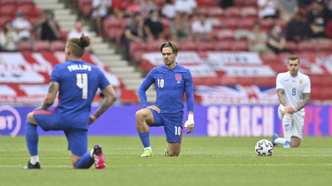 England players were once again booed by some of their own supporters when they took the knee