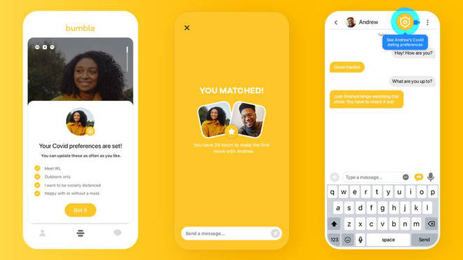 Bumble is among the dating apps that will offer perks for their users who get the Covid jab