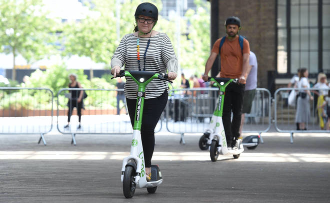 A trial involving rental e-scooters launches in London today