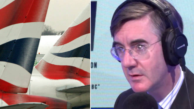 Jacob Rees-Mogg responded to the breaking news story about British Airways