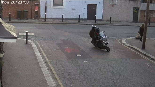 Robinson with Sani-Semedo on a moped moments before shooting Chad Gordon
