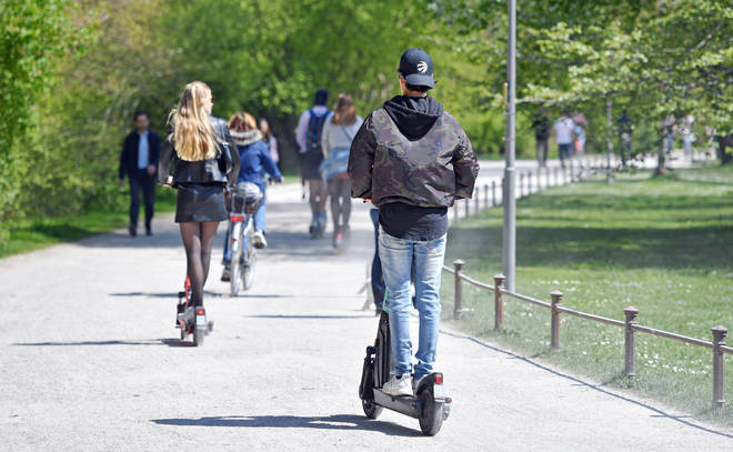 E-scooters can only be used in places where people can ride bicycles, such as roads and cycle lanes, not on pavements