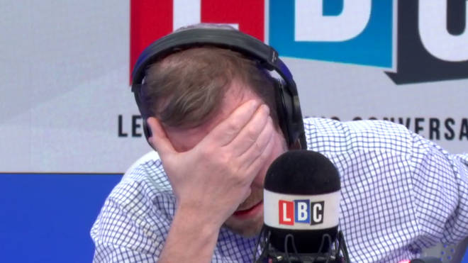 James O'Brien with his head in his hands