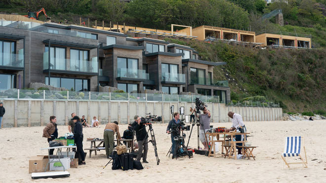 The world's media has descended on the hotel where G7 leaders will meet