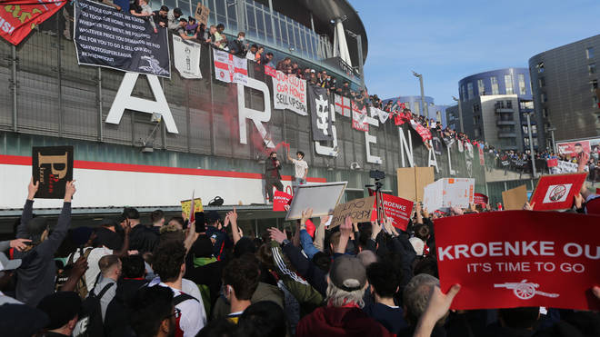 The European Super League announcement sparked widespread protests from football fans