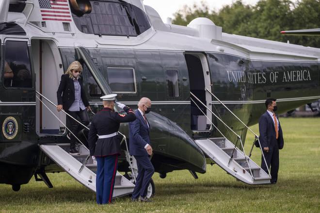 President Biden exits Marine One
