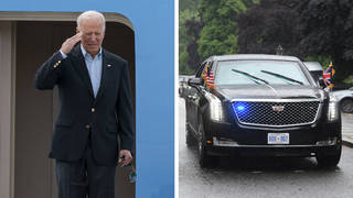 Mr Biden can use Air Force One and the Beast to get around