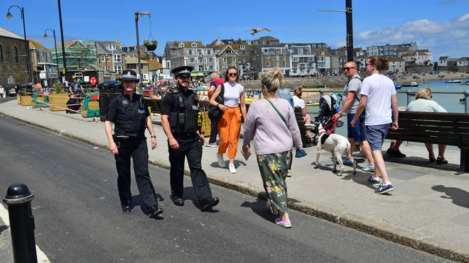 Some 5,000 officers are being deployed to support Devon and Cornwall Police
