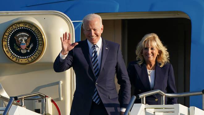 Joe Biden touched down on Wednesday
