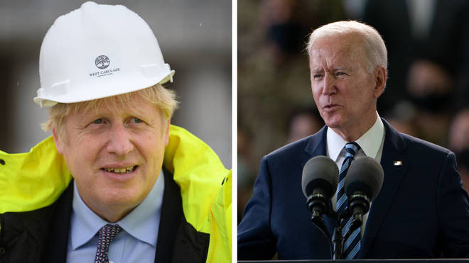 Boris Johnson and Joe Biden will work on efforts to resume transatlantic travel and agree a new commitment for the UK and US to co-operate on challenges