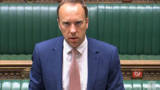 Health Secretary Matt Hancock is due to face questions from MPs