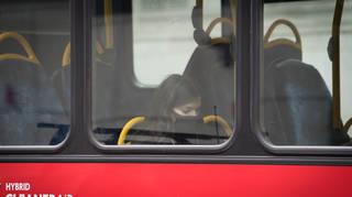 A passenger on a London bus