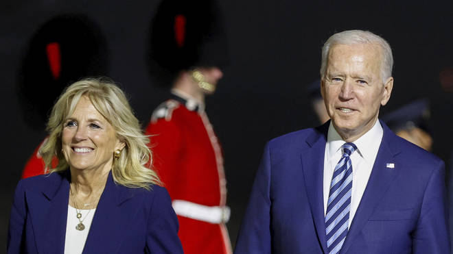 Mr and Dr Biden will visit the Queen on Sunday.