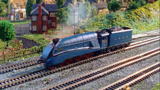 The Hornby 'Live Steam Mallard' range of model trains that are powered entirely by steam (Hornby/PA)