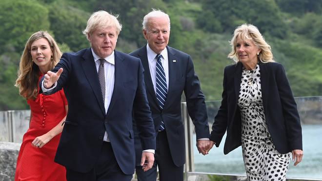 Boris Johnson has met US President Joe Biden ahead of the G7 summit