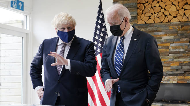 """Prime Minister Boris Johnson said it was """"absolutely common ground"""" between the UK, US and European Union that the Good Friday Agreement should be protected"""