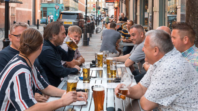 Pubs, bars and restaurants across the UK saw sales slide more than a quarter below pre-pandemic levels last month