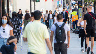 Economy growth: Shoppers on Oxford street in London
