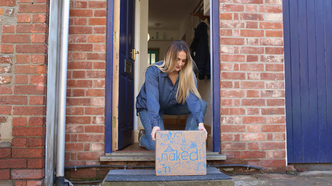 Wine delivery on a doorstep